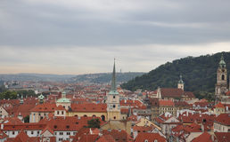 Aerial view of Prague from Czech Republic Stock Photo