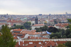Aerial view of Prague from Czech Republic Royalty Free Stock Image