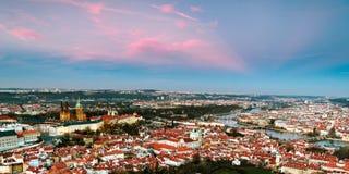 Aerial view of Prague, Czech Republich Stock Photography