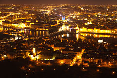 Aerial view of Prague, Czech Republich Royalty Free Stock Photos