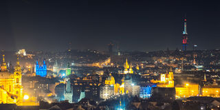 Aerial view of Prague, Czech Republich Stock Photography