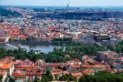 Aerial view on Prague Stock Photography