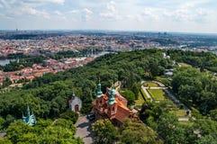 Aerial view on Prague Stock Image
