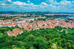 Aerial view of Prague Royalty Free Stock Photos