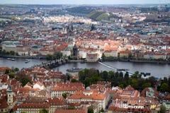 Aerial view of Prague Royalty Free Stock Photos