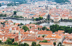 Aerial view of Prague old town royalty free stock images
