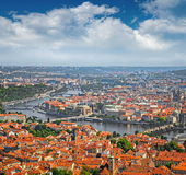 Aerial view of Prague Old Town, Czech Republic Royalty Free Stock Photography