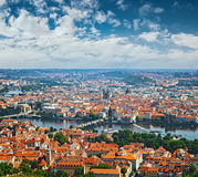 Aerial view of Prague Old Town, Czech Republic Stock Photography