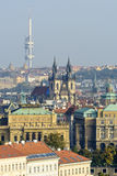 Aerial view of Prague Stock Photography