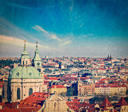Aerial view of Prague from Prague Castle Royalty Free Stock Photography