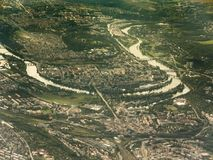 Aerial view of Praga Stock Photos