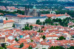 Aerial view on Prague Royalty Free Stock Images