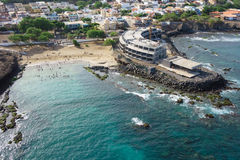 Aerial view of Praia city in Santiago - Capital of Cape Verde Is Stock Photography