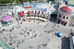 Aerial view of Prater amusement park Vienna, Austria Royalty Free Stock Photography