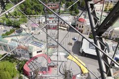 Aerial view of the Prater Park royalty free stock photos