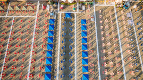 Aerial view of private beach Royalty Free Stock Images