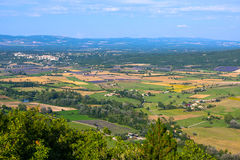 Aerial view of Provence and the lavender fields Royalty Free Stock Images