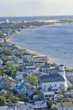 Aerial View of Provincetown, Massachusetts Stock Image