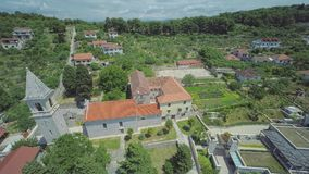 Prvic Luka aerial stock footage