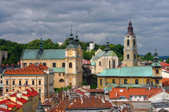 Aerial view of Przemysl town center, Poland Stock Photo