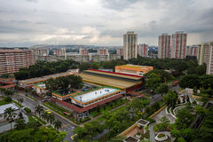 Aerial View of Public Housing Estate in Singapore. Ang Mo Kio Estate from height view Royalty Free Stock Image