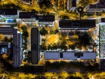 Aerial view of public housing of Hong Kong Royalty Free Stock Photo