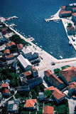Aerial view at Pucisca at Brac island Royalty Free Stock Photography
