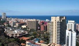 Aerial view of Puerto de la Cruz Stock Photo