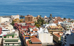 Aerial view of Puerto de la Cruz Stock Photos