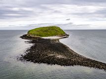Aerial view of puffin island - Wales - United Kingdom.  Stock Photography