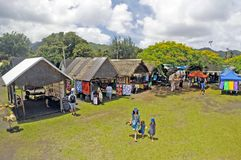 Aerial view of Punanga Nui Market Rarotonga Cook Islands. Aerial view of Punanga Nui Market in Avarua town, Cook Islands.It`s one of the highly regarded Royalty Free Stock Photo
