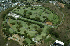Aerial view of Punchbowl Cemetery or the National Memorial Cemet Stock Photography