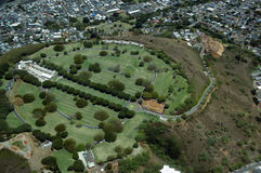 Aerial view of Punchbowl Cemetery or the National Memorial Cemet Stock Photos