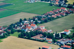aerial view of purlieus of munich germany royalty free stock images