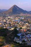 Aerial view of Pushkar city, India Royalty Free Stock Image
