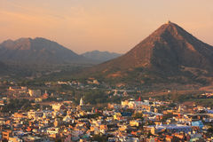 Aerial view of Pushkar city at sunrise, Rajasthan, India Royalty Free Stock Photography