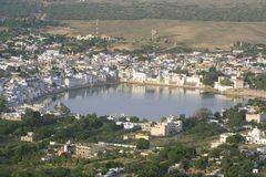 Aerial view of pushkar lake Royalty Free Stock Photo