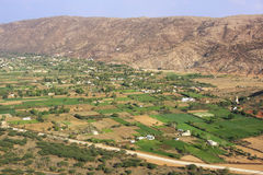 Aerial view of Pushkar plains, India Royalty Free Stock Photography