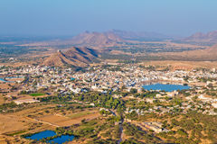Aerial view of Pushkar in Rajastan, India Stock Images