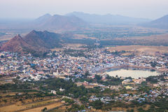 Aerial View of Pushkar, Rajasthan, India Royalty Free Stock Images