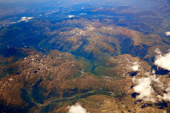 Aerial view of Pyrenees mountains Royalty Free Stock Image