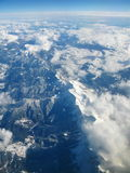 Aerial view of Pyrenees mountains, between Spain and France Royalty Free Stock Photos