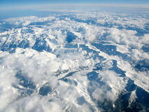 Aerial view of Pyrenees mountains, between Spain and France Stock Image