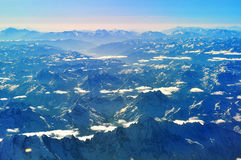 Aerial view Qinghai-Tibet Plateau Stock Image