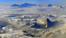 Aerial view Qinghai-Tibet Plateau Royalty Free Stock Image