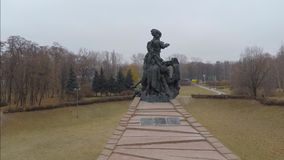 Aerial view from Quadcopter  of the Babi Yar, Kiev stock video