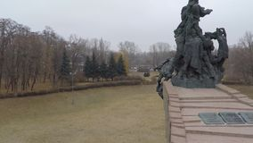 Aerial view from Quadcopter  the monument of dead stock footage