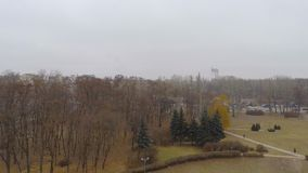 Aerial view from Quadcopter  of  monument in stock video