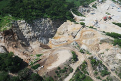 Aerial view of quarry development Stock Images
