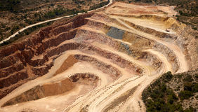Aerial view of a quarry in Valencia Spain Stock Photos